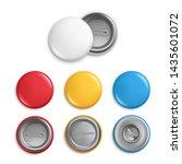 metallic round badges....   Shutterstock . vector #1435601072