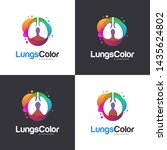colorful lungs logo vector ... | Shutterstock .eps vector #1435624802