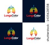 colorful lungs logo vector ... | Shutterstock .eps vector #1435628558