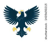 heraldic eagle. vector... | Shutterstock .eps vector #1435650215