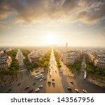 paris view from arc de trimphe | Shutterstock . vector #143567956