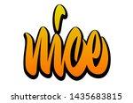 nice. handwritten vector... | Shutterstock .eps vector #1435683815