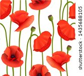 bright red poppies seamless... | Shutterstock .eps vector #1435688105
