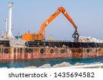 sea shore reinforcement works... | Shutterstock . vector #1435694582