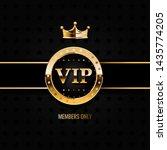 premium vip banner with gold... | Shutterstock . vector #1435774205