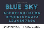 blue bold artistic font... | Shutterstock .eps vector #1435776332