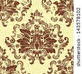 vector vintage damask seamless... | Shutterstock .eps vector #143578102