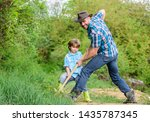 cute child in nature having fun ... | Shutterstock . vector #1435787345