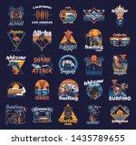 big set vintage print... | Shutterstock .eps vector #1435789655