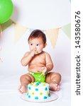 babies' first birthday one year ...   Shutterstock . vector #143580676