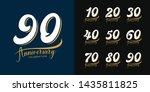 set of anniversary logotype.... | Shutterstock .eps vector #1435811825