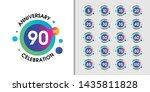 set of modern anniversary... | Shutterstock .eps vector #1435811828