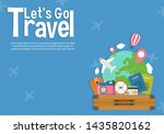 it s time to travel.travel... | Shutterstock .eps vector #1435820162