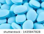 macro photo of many blue pills. ... | Shutterstock . vector #1435847828
