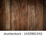 old dark brown wooden wall ... | Shutterstock . vector #1435881542
