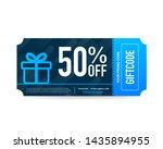 template red and blue gift card....   Shutterstock .eps vector #1435894955