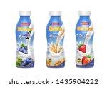 Drinking Yogurt In Bottles Set...