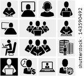 business man vector icons set... | Shutterstock .eps vector #143590492