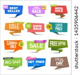 collection of colorful sale... | Shutterstock . vector #1435906442