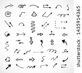 vector set of hand drawn arrows | Shutterstock .eps vector #1435914365
