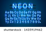 neon city color blue font.... | Shutterstock .eps vector #1435919462