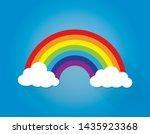 classic cartoon rainbow arc... | Shutterstock .eps vector #1435923368