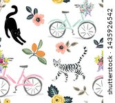 Cute Cats  Bikes And Floral...