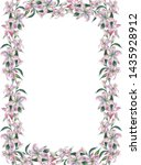 frame with white watercolor... | Shutterstock . vector #1435928912