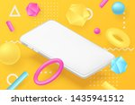 isometric horizontal smartphone ...