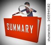 executive summary folder icon... | Shutterstock . vector #1435944182