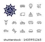 set of public transport related ... | Shutterstock .eps vector #1435951265