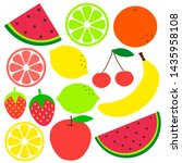 tropical and exotic fruits... | Shutterstock .eps vector #1435958108