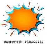 comics background. cartoon...   Shutterstock .eps vector #1436021162