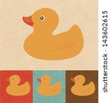 Retro Icons   Rubber Duck