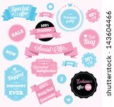 fashion shop vector stickers... | Shutterstock .eps vector #143604466