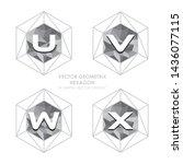 alphabetical hexagon vector  ... | Shutterstock .eps vector #1436077115