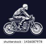 cafe racer vector illustration...   Shutterstock .eps vector #1436087978