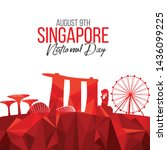 vector illustration august 9th... | Shutterstock .eps vector #1436099225