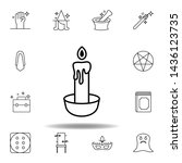 magic candle outline icon....