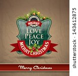 christmas premium labels ...   Shutterstock .eps vector #143612875