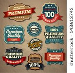 premium quality labels | Shutterstock .eps vector #143613742