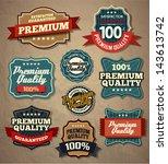 premium quality labels | Shutterstock .eps vector #143613742