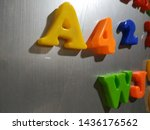 big colorful alphabet red... | Shutterstock . vector #1436176562