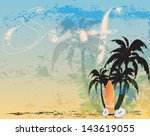 retro surf background | Shutterstock .eps vector #143619055
