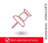 vector push pin icon  pushpin... | Shutterstock .eps vector #1436211875