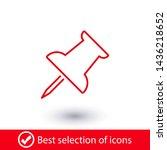 vector push pin icon  pushpin... | Shutterstock .eps vector #1436218652