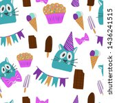 birthday greeting cards with... | Shutterstock .eps vector #1436241515