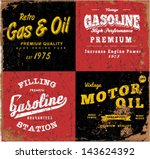vintage gasoline   motor oil | Shutterstock .eps vector #143624392