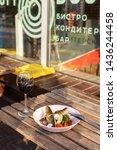 fried mackerel fish with...   Shutterstock . vector #1436244458
