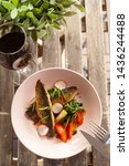 fried mackerel fish with...   Shutterstock . vector #1436244488